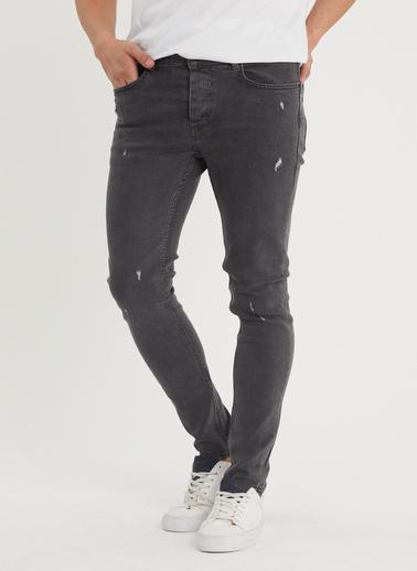 XHAN Antrasit Slim Fit Jean Pantolon 1Kxe5-44350-36 Gri